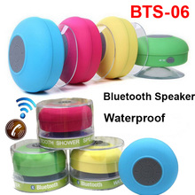 Waterproof Bluetooth Shower Mini Speaker BTS-06 Suction Cup Bathrom Car Call Handfree for Smart Phone iPhone 6 S6 S5 Android 4.4