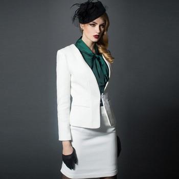 Women's suit skirt suit elegant ladies business office formal overalls custom women's suit two-piece suit (jacket + skirt)