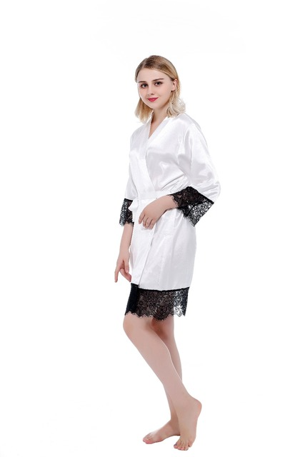 Women's Pajamas Sexy Robes Nightgowns And Bathrobes Silk Lace Nightwear Wedding Bride Robes Kimono Yukata Night Dress Gow