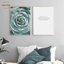 900D Posters And Prints Wall Art Canvas Painting Pictures For Living Room Nordic Succulent Decoration NOR008