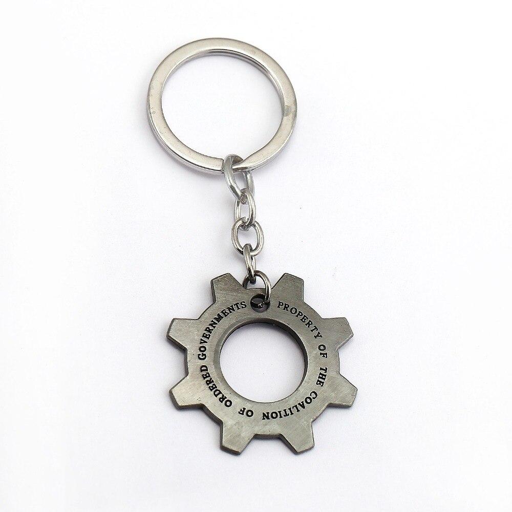 Gears of War Keychain Gear Shape Key Ring Holder Metal Fashion Car Bag Chaveiro Key Chain Pendant Game Jewelry