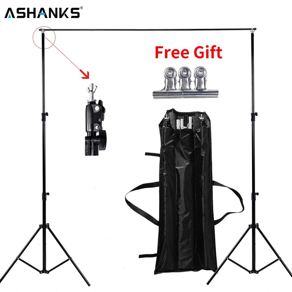Ashanks Background Stand Регулируемый задний фон для видеостудий Фотографические аксессуары 6.5Ft Muslin Штатив-рамка