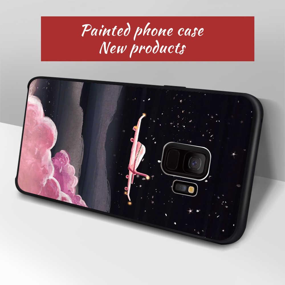 Caso padrão para samsung galaxy s9 s8 mais nota 8 s7 s6 borda a8 mais 2018 a5 a3 a7 j7 j5 j3 2017 2016 telefone pintado caso capa