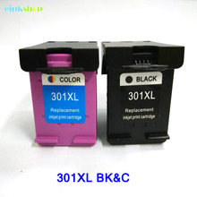 2Pcs Ink Cartridge For HP 301 301xl HP301 Deskjet 1000/1050/2000/2050/2050S/3000/3050/J410a/J510a
