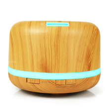 500ml Electric Ultrasonic Aroma Air humidifier Essential Oil Diffuser Wood Grain purifier mist maker LED light for home цена и фото