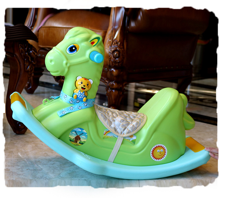 HTB10BaBPSzqK1RjSZFHq6z3CpXap Children's Rocking Horse  Baby Rocking Chair ride on toys with music 1-6 Years Old Baby Birthday Gift  Baby Jumper