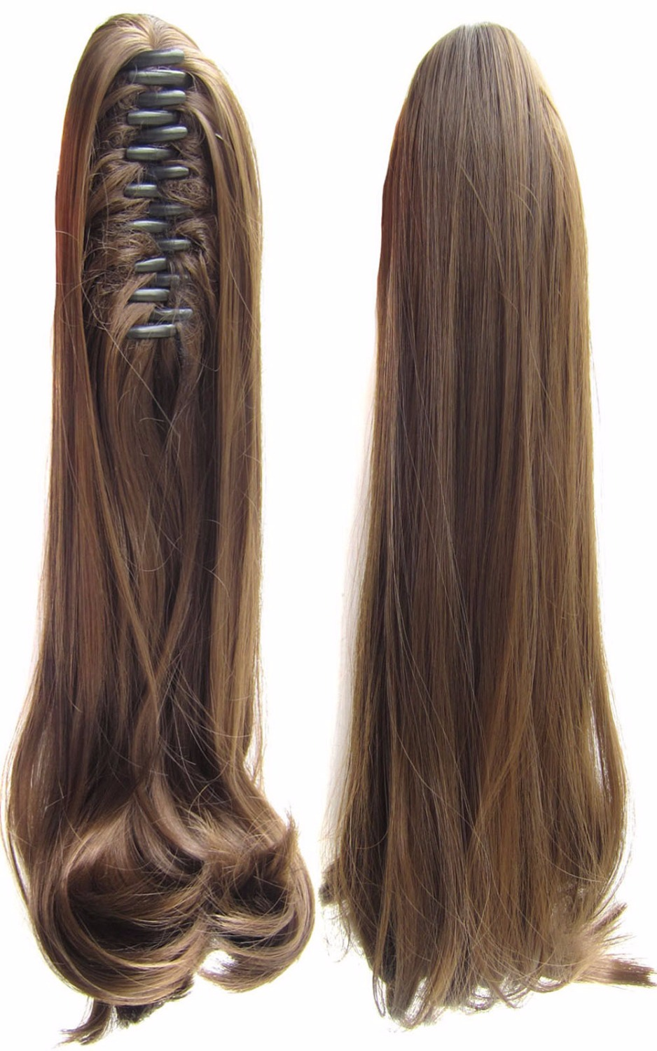 1pcs 18inch Clip In On Hair Extension Synthetic Hair Curly Dark