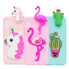For iphone X Phone Case Cute Soft TPU Silicone Cover Protective Unicorn Flamingo Cactus Fundas Case For iphone 7 Plus 8 6 6S 5 недорого