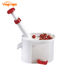 VOGVIGO Plastic Container Cherry Pitter Picker Novelty Easy Cherry Fruit Core Seed Remover Kitchen Tool Accessories For Kitchen