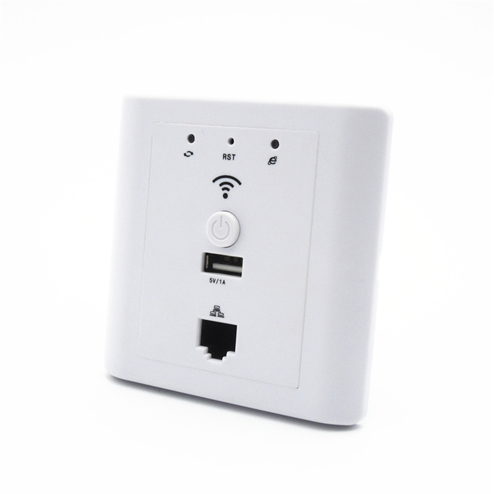 OUTENGDA Hotel Socket Wifi in Wall Ap Router Suport Poe Usb Lan Wi-fi Wall-mount Access Point White