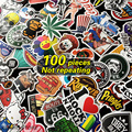 100 pcs Not repeating waterproof stickers for Home decor Travel Suitcase Wall Bike fridge car sticker Sliding Plate Styling
