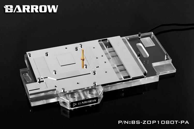 Купить с кэшбэком BARROW Full Cover Graphics Card Block use for ZOTAC GTX1080Ti-11GD5X PGF Player Power OC 1070TI GPU Radiator RGB BS-ZOP1080T-PA