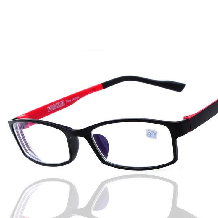 Kvalitní dokončené brýlové krátkozraké brýle pro ženy Muži Studentské rámy brýlí Oculos (-100 až -400)