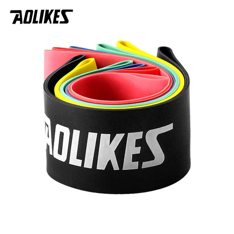 AOLIKES elastyczne taśmy oporowe trening gumowa pętla do siłowni Fitness trening siłowy opaski elastyczne sprzęt do ćwiczeń ekspander