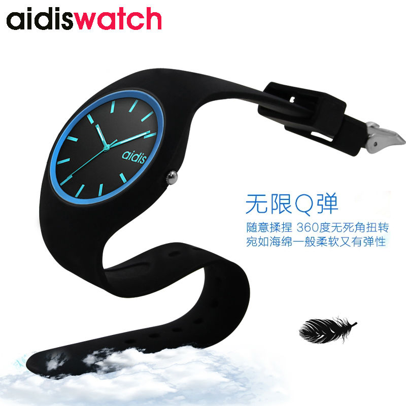 Jelly Soft Strap Lady Silicone Quartz Watches Import Movement Waterproof Watch Women Casual Fashion Women Wristwatches