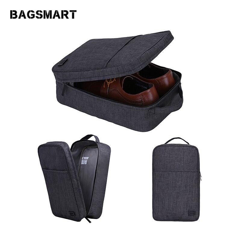 BAGSMART Nouveau accessoires de voyage Sac Portable sac à chaussures imperméables pochette cubes d'emballage Poignée Nylon Zipper Sac pour Voyage
