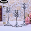 Peandim Luxury Crystal Silver Centerpieces Decoration Candle Holder Party Bar Home Romantic Candelabra Centerpiece 1