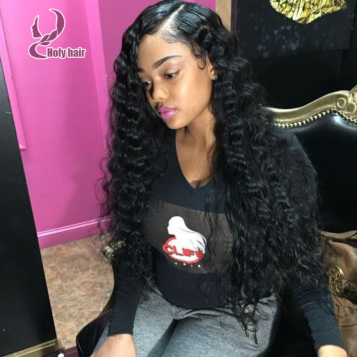 Deep Curly Front Cambodian Lace Wig 100 Unprocessed