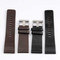 High Quality Genuine Calf Hide Leather Watchbands For Diesel Watch Strap Men's Wrist Watch Bands 26MM 27MM 28MM 30MM 32MM 34MM