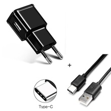 5V 2A Travel EU USB Wall Charger For Samsung S8 S9 S10  Huawei P10 P20 P9 Mate 20 Pro 9 10 + USB Type C Data Sync USB Cable Wire