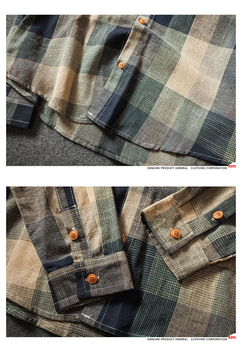 Check Shirts For Men Loose Men Button Up (11)