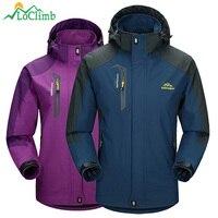 LoClimb Men Women Waterproof Camping Hiking Jacket Outdoor Climbing Windbreaker Trekking Rain Coat Clothing Sport Jackets
