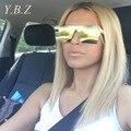 HISTORIA de Lujo Cuadrados gafas de Sol Mujeres Diseñador de la Marca Celebrity Metal UNISEX Para Hombre de Gran Tamaño gafas de Sol de Espejo de La Lente UV400