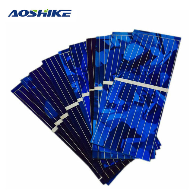 Aoshike 100pcs Solar Panel Solars Cell 0.5V 320mA Color Crystal Solars Module DIY Solar Battery Car Charger Power Bank China