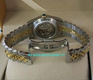 Image 4 - 2017 新ファッションサファイアクリスタル 36 ミリメートルパーニス日本 21 jeweles 自動自己風運動発光メンズ腕時計 5Bar 9A