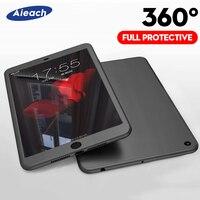 Para novo ipad mini 5 4 3 2019 caso para ipad pro 11 ar 1 2 360 capa de silicone proteção completa para ipad 2018 2017 9.7 com vidro