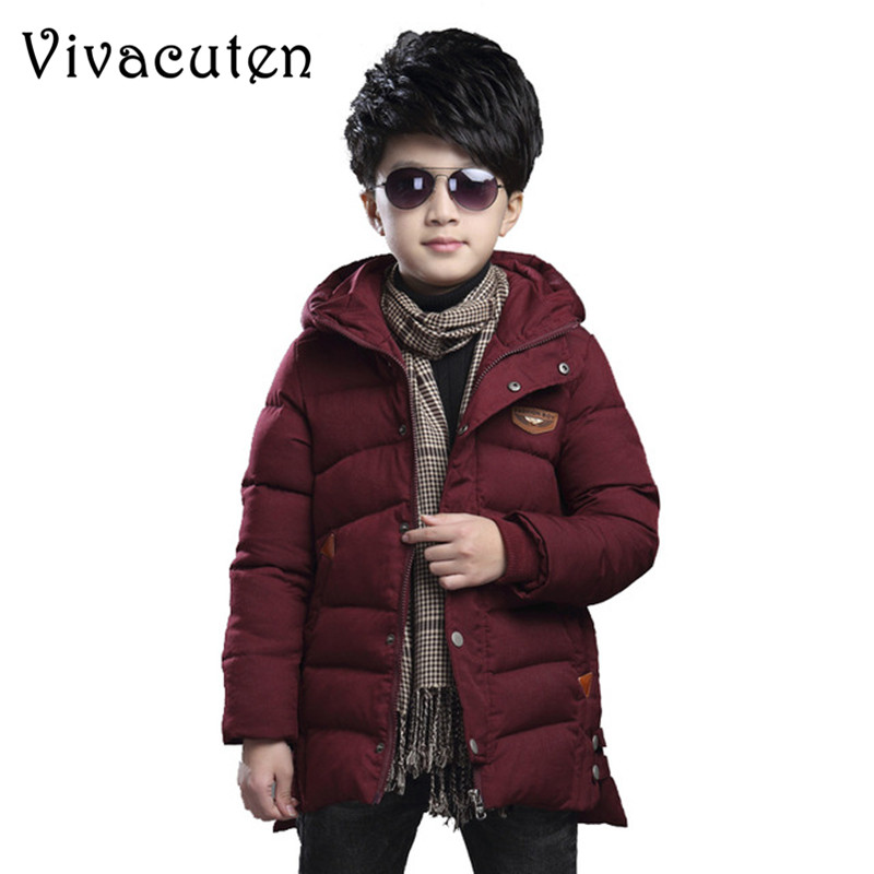 Children Winter Cotton-padded Jacket for Boy 2018 New Patchwork Cotton Wadded Outerwear Teens Boys Warm Thicken Hooded Coat ZF04 winter jacket men warm coat mens casual hooded cotton jackets brand new handsome outwear padded parka plus size xxxl y1105 142f