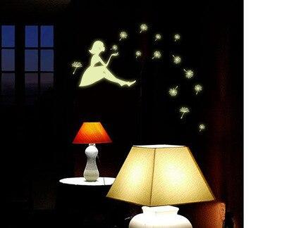 Poster Murali Per Camere Da Letto : Fai da te adesivi interruttore luminoso del dente di leone ragazza