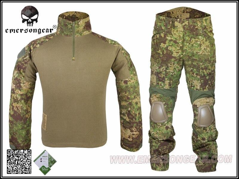 Emerson Men's Tactical Uniform With Protecting Knee & Elbow Pads Military Gen2 Combat Official Suit Shirt & Pants Training Suit hot sale gen2 official tactical military training uniform combat clothing pant