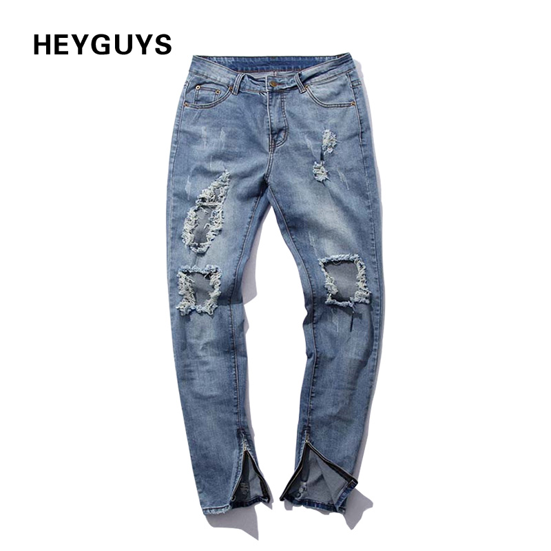 Destroyed Hole Casual Pants