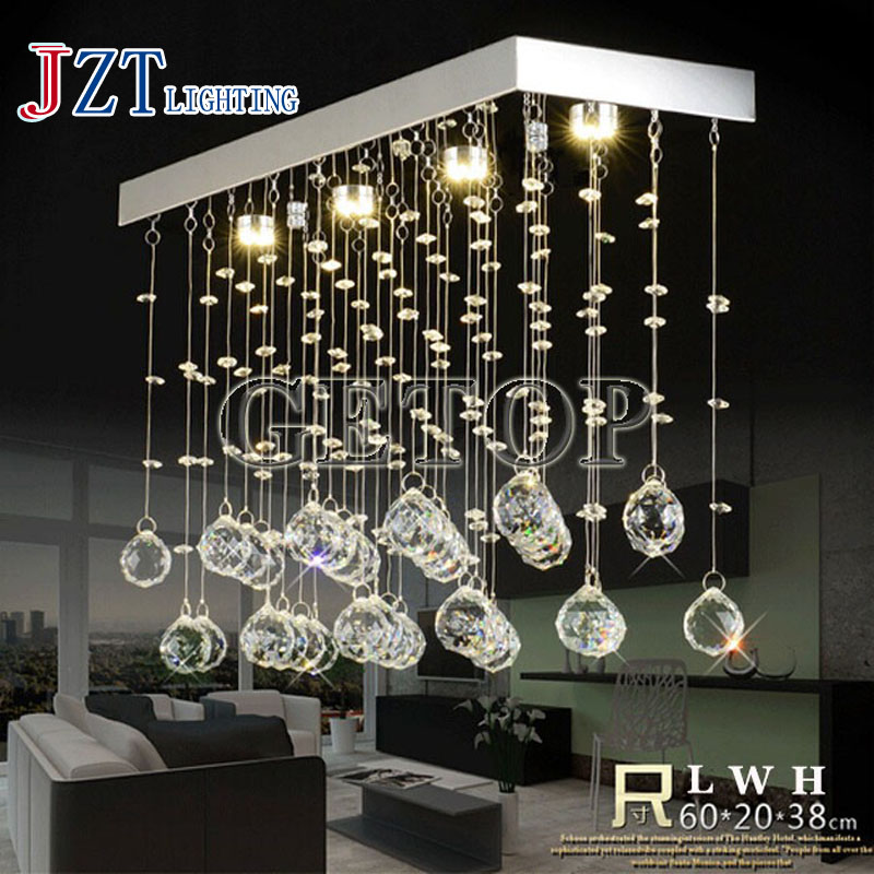 T best price hot sale Rectangular Wave LED Modern K9 Crystal Chandelier Dining Room Living Room Bedroom droplight stair lamps t best price modern lustre rectangular crystal chandeliers for dining room pandent lamp with led bulbs for entrance aisle