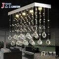 T best price hot sale Rectangular Wave LED Modern K9 Crystal Chandelier Dining Room Living Room Bedroom droplight stair lamps