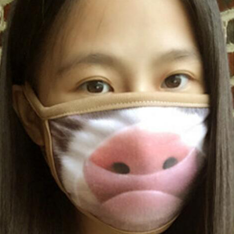 1 Pcs Funny Expression Pig Lower Half Mouth Mask Cotton Animal Face Masks Festive Festive masquerade Party Cosplay Z3