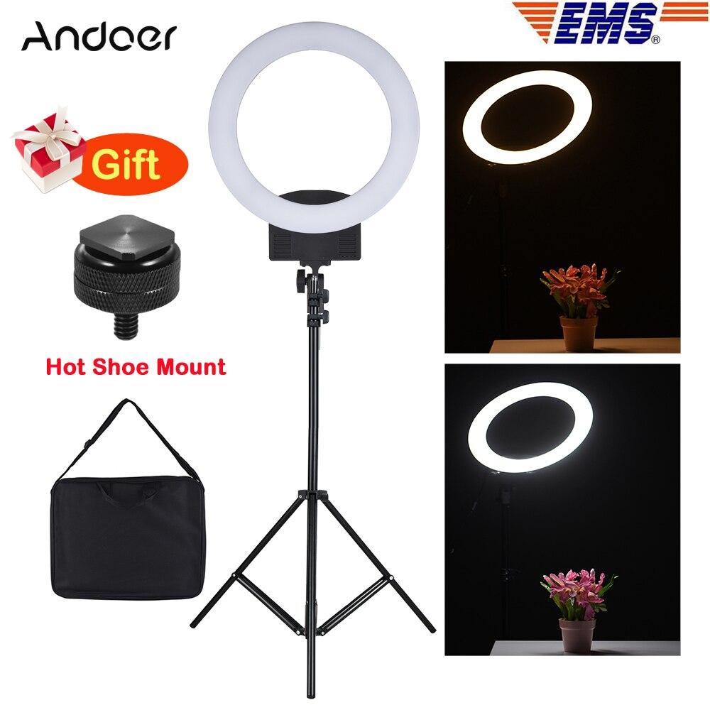 Andoer RL 560D 12 นิ้ว 5600K 36W LED video Light สำหรับกล้อง DSLR กล้องสมาร์ทโฟนแสงการถ่ายภาพวิดีโอสตูดิโอถ่ายภาพ-ใน ไฟถ่ายภาพ จาก อุปกรณ์อิเล็กทรอนิกส์ บน AliExpress - 11.11_สิบเอ็ด สิบเอ็ดวันคนโสด 1