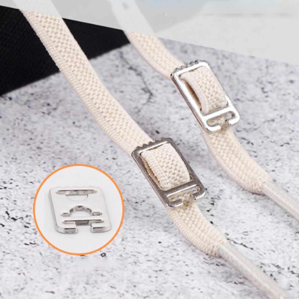 1 par de 100CM sin ataduras perezosos zapatos de goma elástica zapatilla con cordón seguro para niños lacets elásticos chaissure