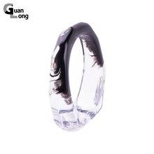 GuanLong Fashion Geometric Irregular Transparent Chinese Art Bangles & Bracelets For Women Summer Street Jewelry