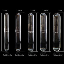 23cm Double heads butt plug glass dildo and Clean and sanitary Huge glass dildo Crystal anal Anal beads fake gay sex toys