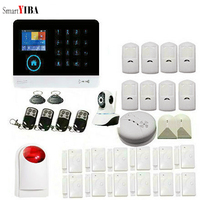 SmartYIBA นาฬิกาปลุกระบบ 3G สมาร์ทไร้สาย House Alarm WIFI ที่อยู่อาศัย Alarm Home Security APP ระยะไกลกล้อง IP SIM GPRS