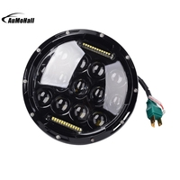 2 X Pieces H4 LED Headlight Round Hi Lo Beam LED Driving Lights 12V 75W