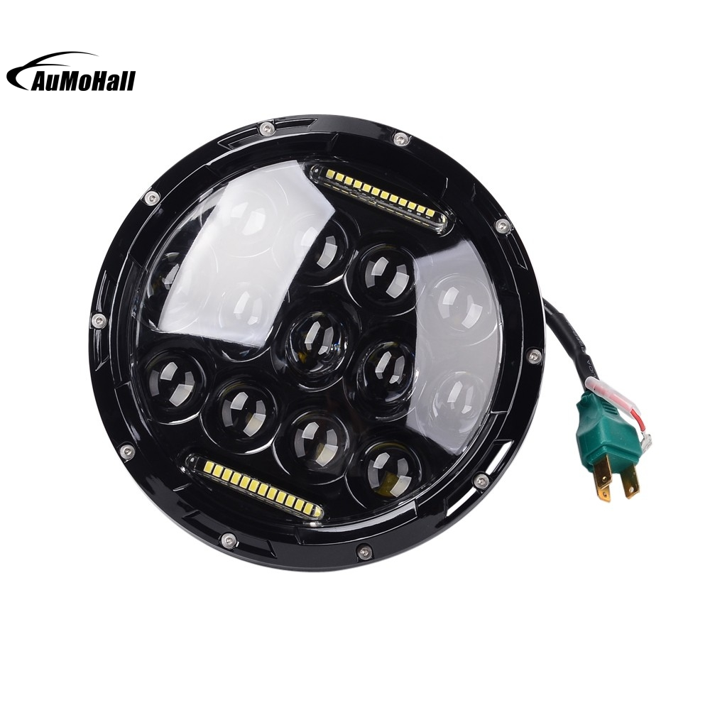 2pcs H4 LED Headlight Round Hi-Lo Beam LED Car Driving Lights 12V 75W