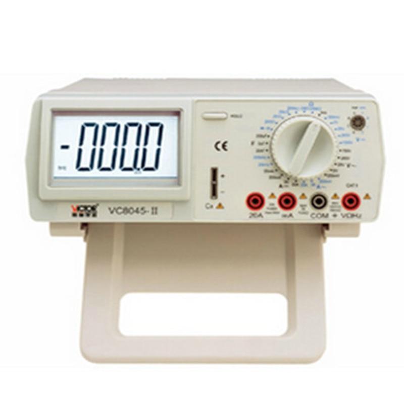 1pcs Digital Multimeter VICHY VC8045 Bench Top 4 1/2 True RMS DCV/ACV/DCA/ACA DKTD012 with english manual цена