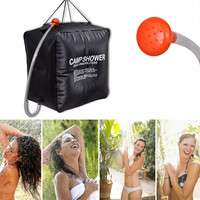 40L Portable Solar Heated Shower Water Bathing Bag + Hose Multifunctional Outdoor Travel Camping Hiking Water Storage Bucket P4