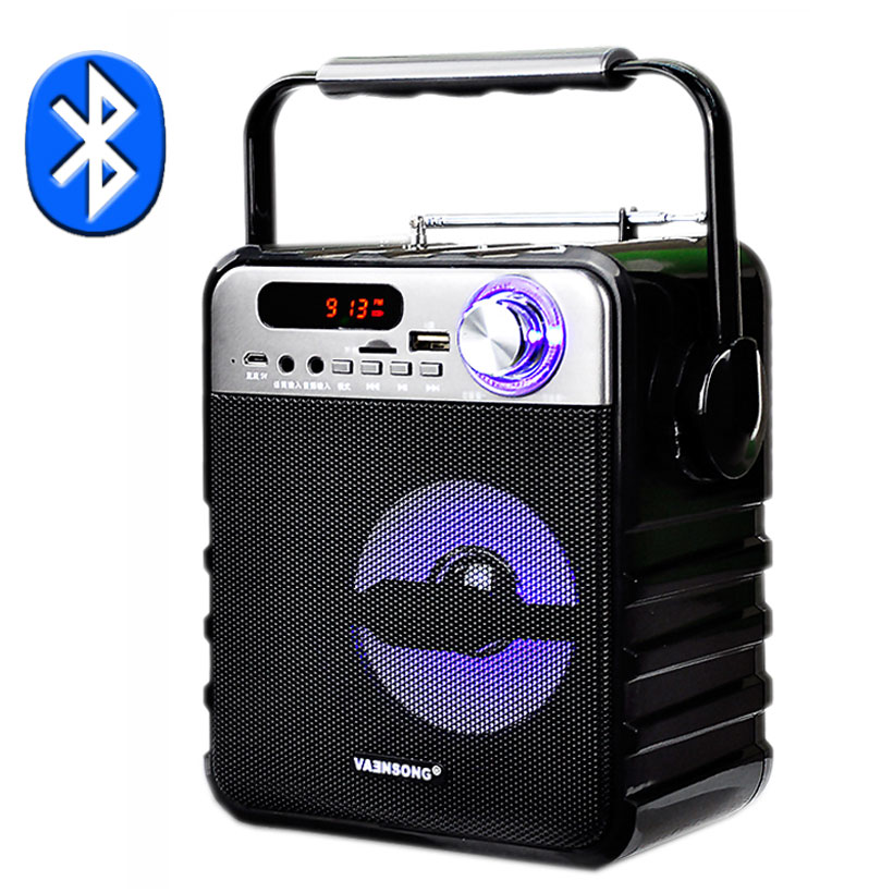 T1 Bluetooth Speaker Support USB Disk And TF Card To Play Music Portable Speakker FM Radio Input Microphone And AUX Column