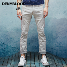 2017 Spring Summer New Fashion Mens Slim Straight Pants Stretch Cotton Linen Casual Pants High Quality Trousers Clothing 151102