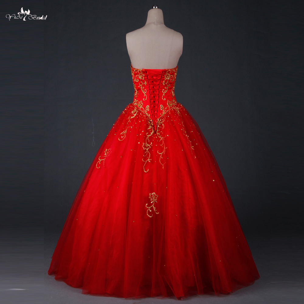 91c3c160aa8 TW0194 Red Wedding Dress Gold Embroidery Sweethearted With Beading Ball Gown  Pakistani Wedding Dresses