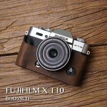 Mr.Stone Real Leather-based Digital camera case Video Half Bag Retro Classic Backside Case For Fuji Fujifilm XT10 XT20 XT-10 XT-20